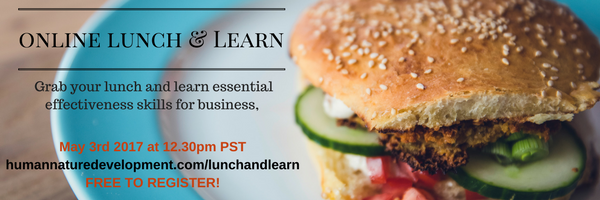 online lunch & Learn May